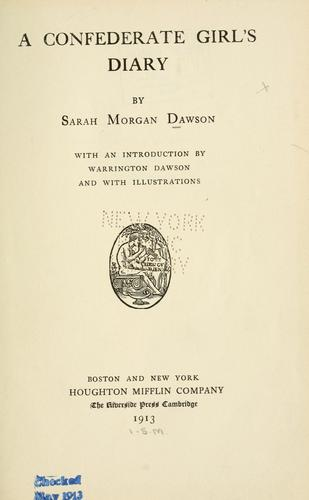 Download A Confederate girl's diary