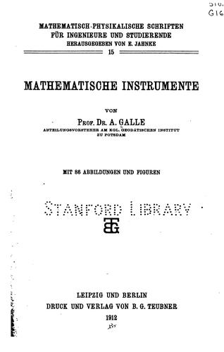 Download Mathematische Instrumente