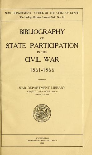 Download Bibliography of state participation in the civil war 1861-1866.
