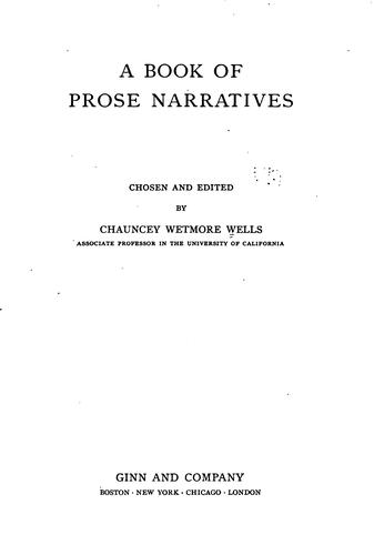 Download A book of prose narratives