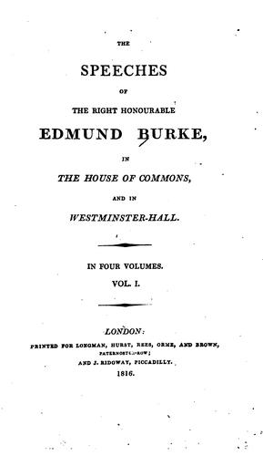 Download The speeches of the Right Honourable Edmund Burke