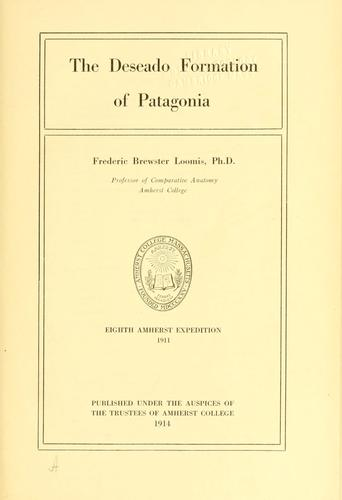 Download The Deseado formation of Patagonia