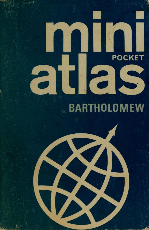Mini atlas by John Bartholomew and Son.