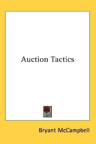 Auction Tactics