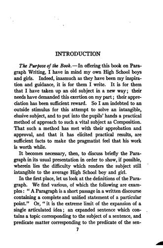 A study of the paragraph by Helen Thomas