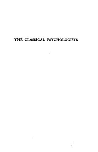The classical psychologists