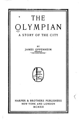 The Olympian by Oppenheim, James