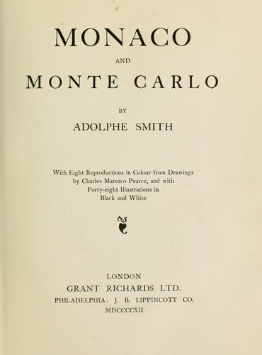 Monaco and Monte Carlo by Adolphe Smith