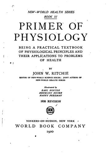 Primer of physiology by John W. Ritchie