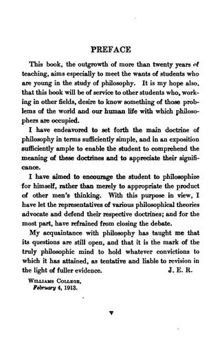 A first course in philosophy by Russell, John Edward