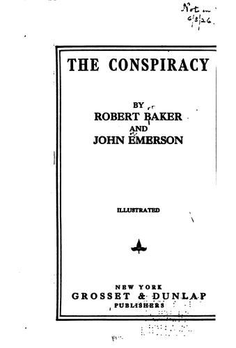 The conspiracy by Robert Melville Baker
