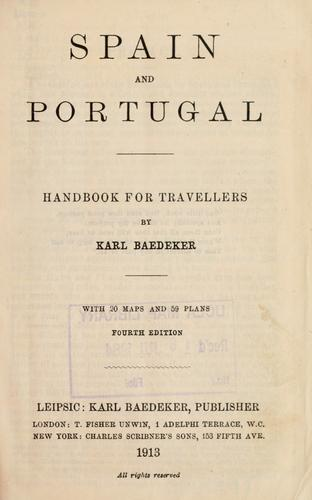 Spain and Portugal by Karl Baedeker (Firm)