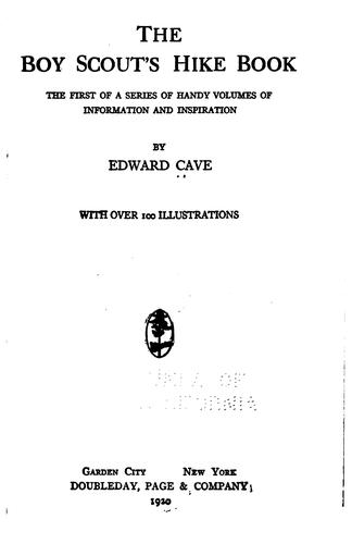 The Boy scout's hike book by Cave, Edward