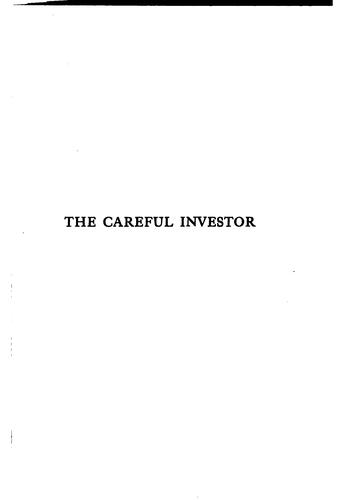 The careful investor by Mead, Edward Sherwood